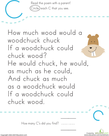 Letter Recognition C  Worksheets Nursery And School