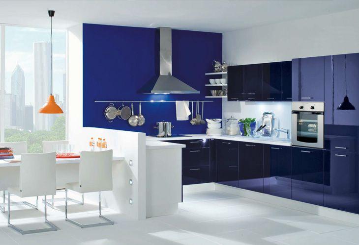Blaue Küche von Burger Bauformat   Blue kitchen by Burger - www küchen quelle de