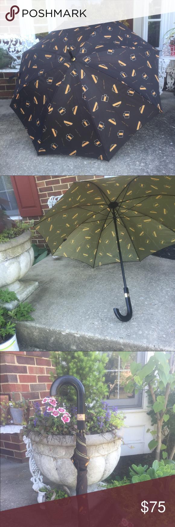 Vintage Fendi Parfum Umbrella Vintage Fendi Parfum Umbrella Makes A Nice Walking Cane Umbrella Full Size 35 Curved Wooden Handl Fendi Vintage Wooden Handles