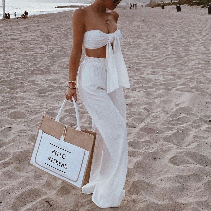 Chic beach outfit