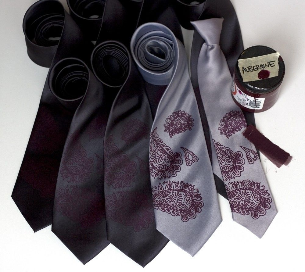 8 Custom Wedding Ties Groomsmen Neckties 20 Group Silkscreen Matching Vegan Safe