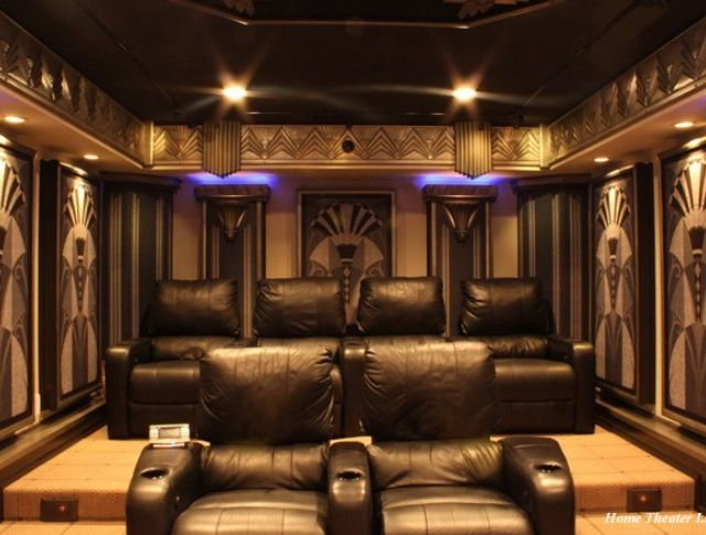 amazing art deco home cinema home theater pinterest. Black Bedroom Furniture Sets. Home Design Ideas