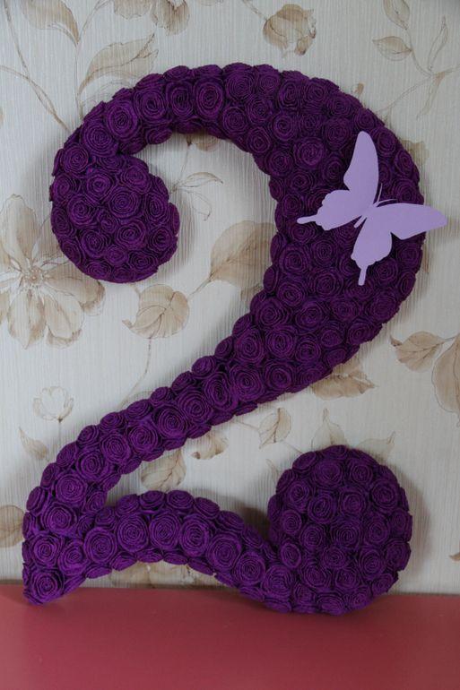 МК по созданию розочек из гофрированной бумаги для декора циферок)) - Babyblog.ru