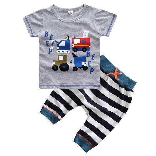 c0f6420dbc3e Baby clothes for boy casual clothing set kids clothes boys truck shirt + pants  Children clothes