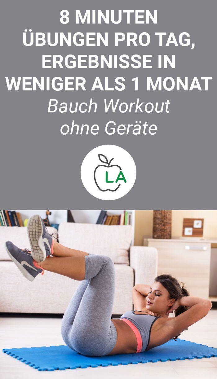 Wer am Bauch Fett weg bekommen will, muss effektive Übungen machen und seine Ernährung anpassen. Hie...