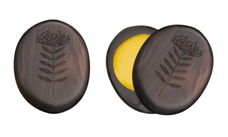 The parfum solide comes as 5g of solid beeswax perfume in an African Blackwood compact. cost unknown. worth it. frazerparfum.com