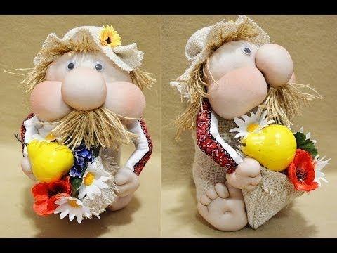 Кукла домовенок из мешковины своими руками