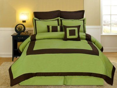 Brown Lime Green Bedding With Images Green Bedroom Walls Lime