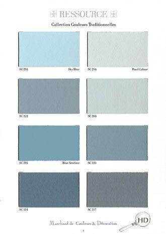 Bleu Gris Idee Couleur Chambre Palette De Couleurs Bleu Peinture Ressource