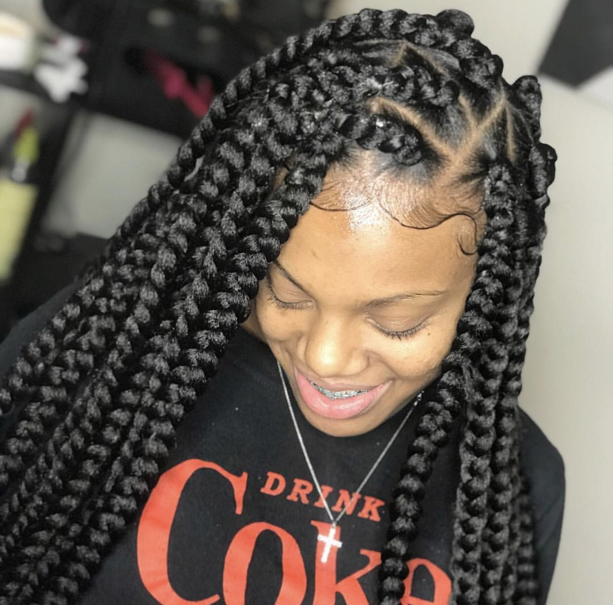 Pinterest Shesoglorious Braided Hairstyles Easy Hair Styles Box Braids Styling