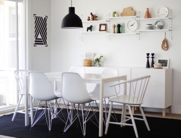 5x Designer Eetkamerstoelen : Wall shelves tomado? dining rm pinterest charles eames eames