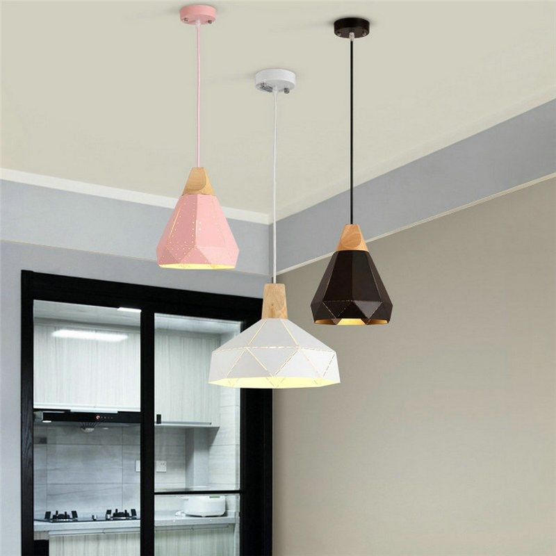 Suspension en aluminium couleur macaron design pour cuisine