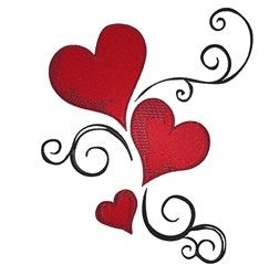 Heart Swirl Embroidery Designs, Machine Embroidery Designs at EmbroideryDesigns.com