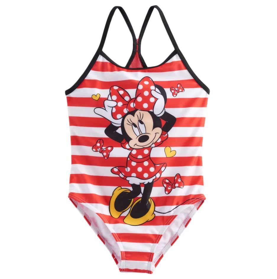 size 5 or 6 Bathing Swim Suit w Ruffles NWT Girls DISNEY MINNIE MOUSE UPF 50