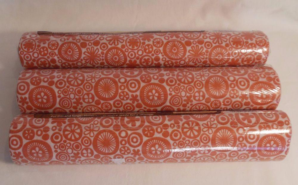 Vintage Shelf Liner Rubbermaid Tack Back Adhesive 3 Rolls Retro