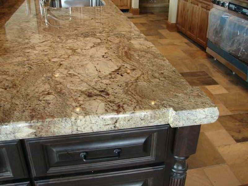 Typhoon Bordeaux Granite Countertop With Nice Cuts