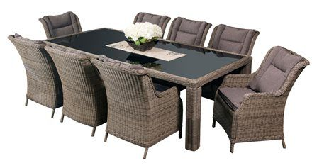 Laguna 8 Seater - The Laguna #DiningSetting is the ultimate in sophistication and comfort.