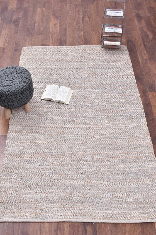 Fabi Jute Leather Rug Making Rugs Carpet
