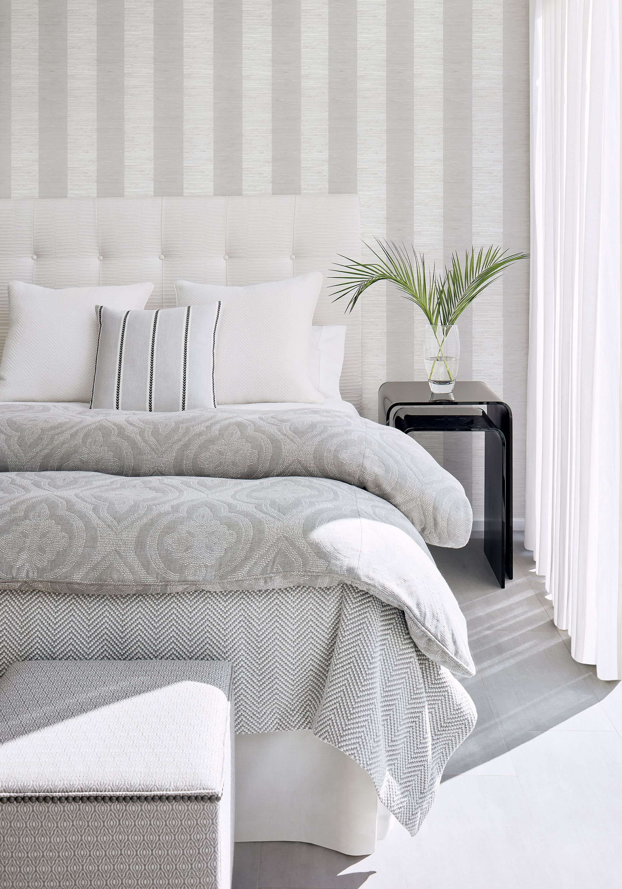 Interval Matelasse from Solstice Collection Grey