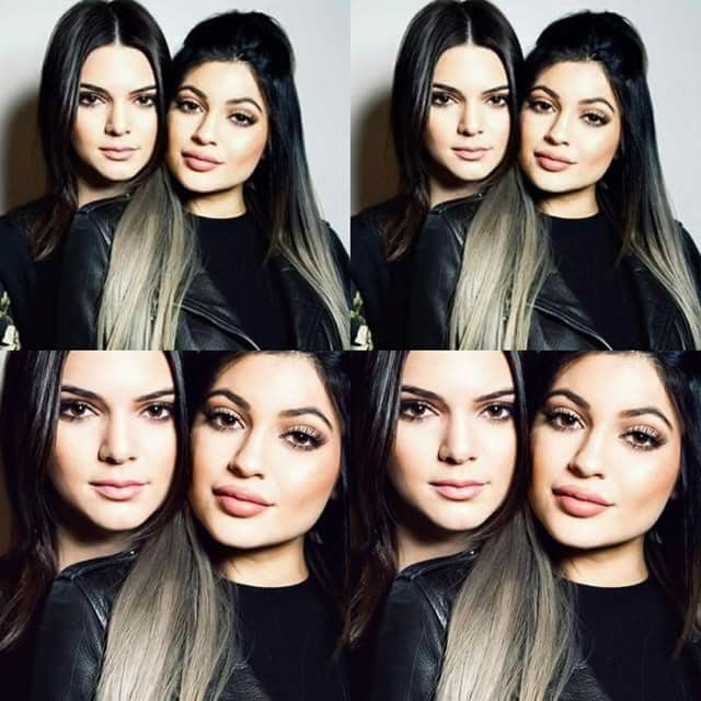 Miss Kylie's gray hair.
