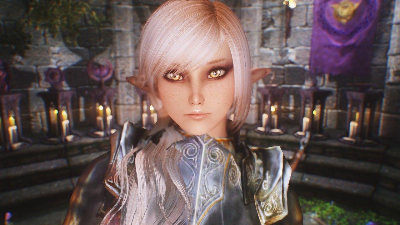 Forte a Cute Dark Elf Preset for RACEMENU Plus Tutorial at
