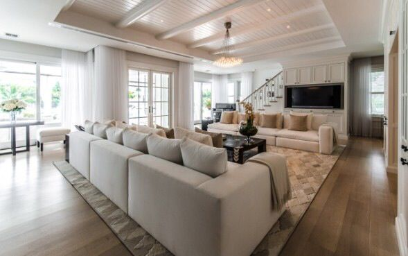 Celine Dion S Living Room I Like Facing Couches And The Tv Placement This Mighty Be A Solution For Our Tricky Living Roo Luxury Living Room Home Luxury Homes