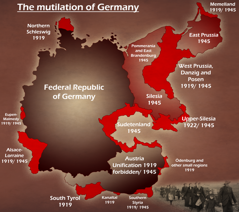 The mutilation of Germany by Arminius1871deviantartcom on
