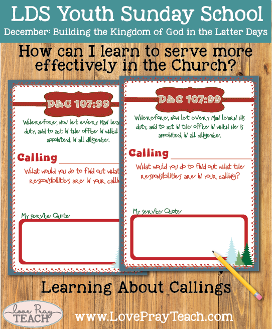 Youth Sunday School December: How can I learn to serve more