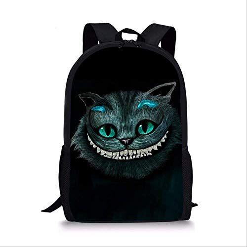 QAZZ Rucksack Cheshire Cat Mädchen Schultasche Kinder Schultasche Schulrucksack Kind Grundschultasche Junge L5389C