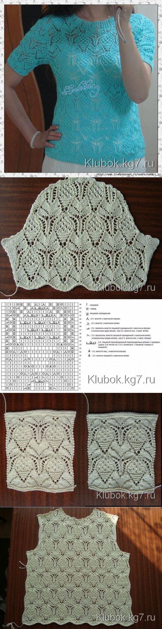 Hermosa Patrón Superior Crochet Encaje Festooning - Manta de Tejer ...