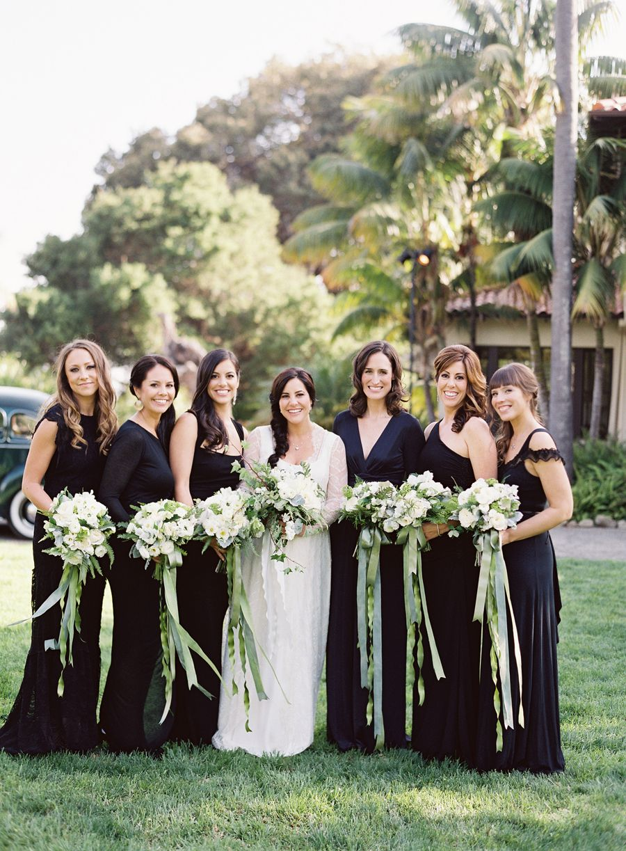 1d2adf22f739 Stylish bridesmaids in black dresses: 15 Times Bridesmaids Wore — and Rocked  — Chic Black Dresses