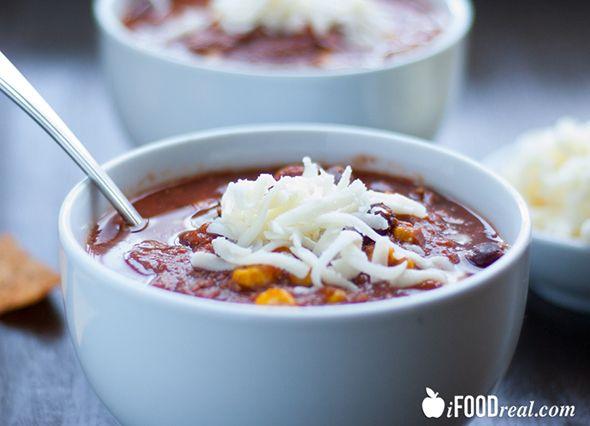 No Pre-cooking Crock Pot Taco Soup Recipe 6 pts