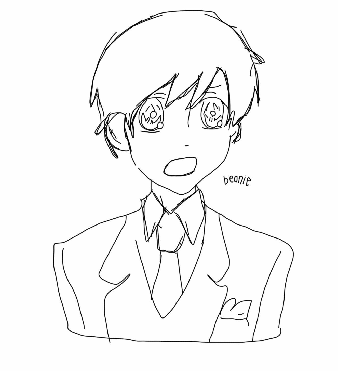Amazing digital art drawing of Haruhi from Ouran by my