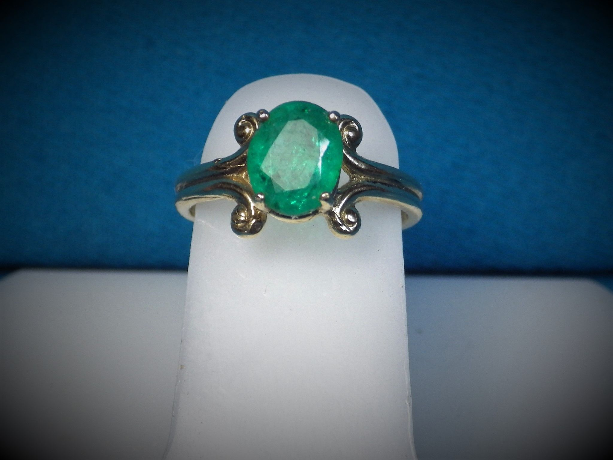 Brand New Item added to our Catalog 14K Gold 1.5ct Em... Just in time for the Holidays http://bestwirejewelry.com/products/14k-gold-1-5ct-emerald-ring?utm_campaign=social_autopilot&utm_source=pin&utm_medium=pin You will Love!
