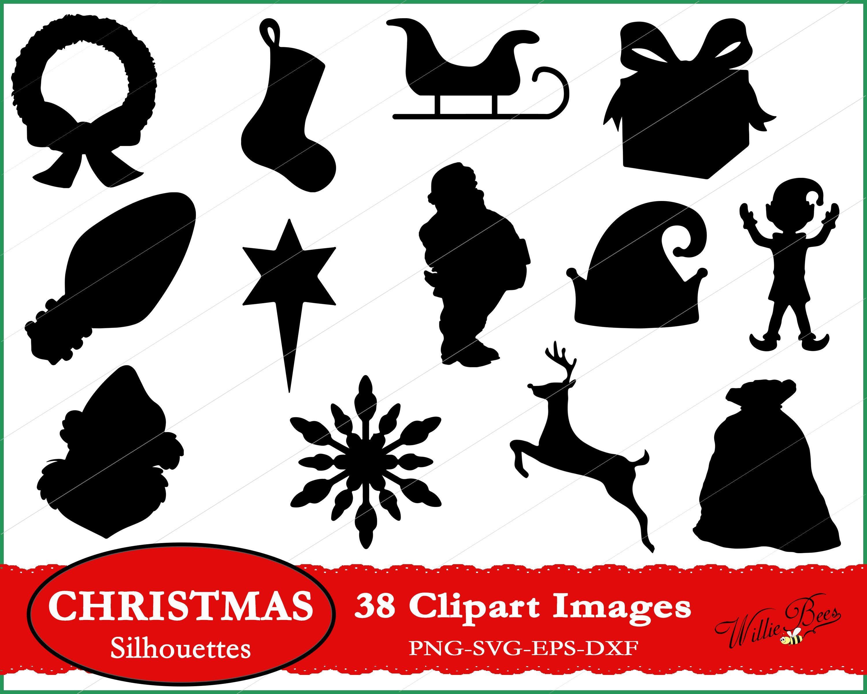 Christmas Holiday Clipart SVG, Santa Claus SVG, Happy