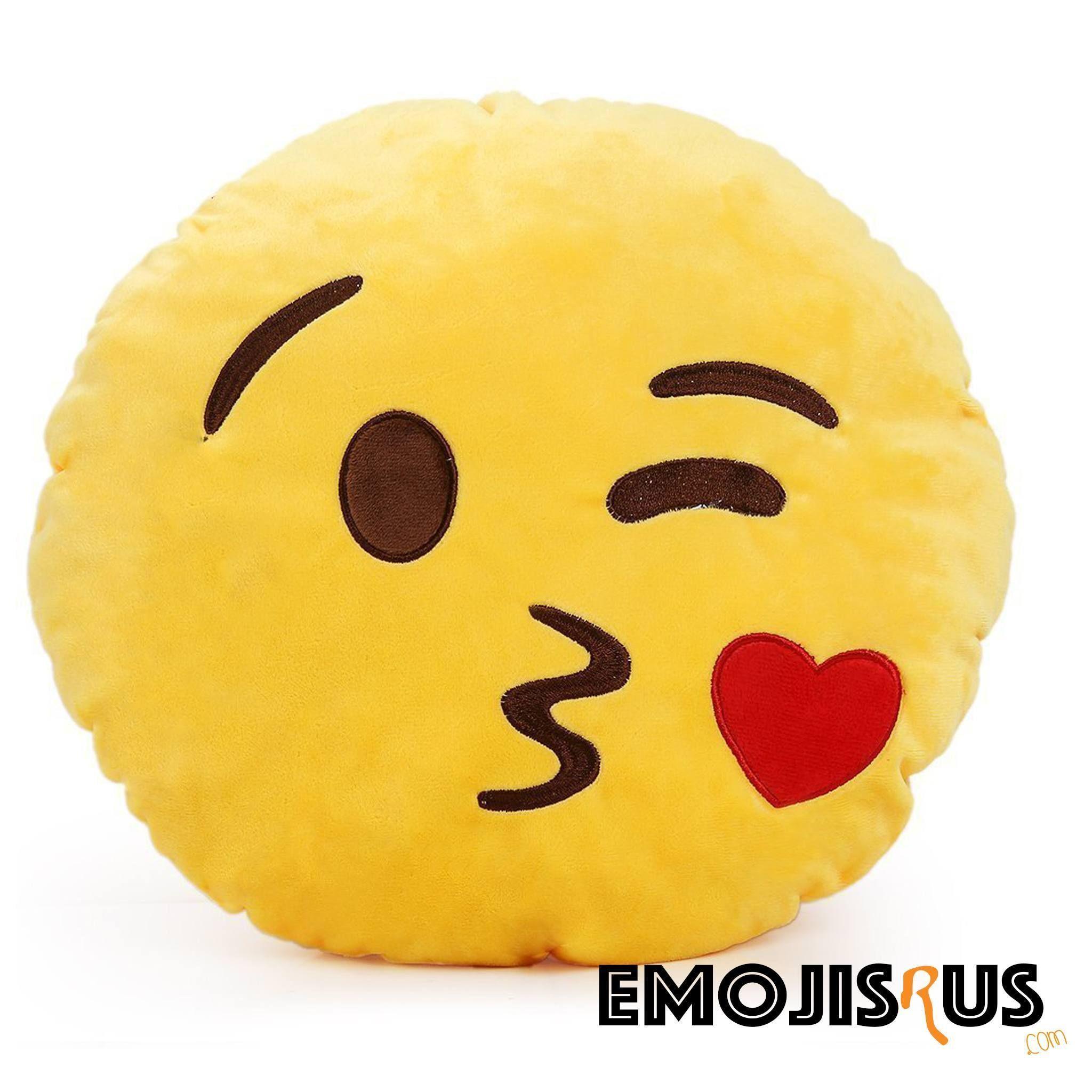 blowing kisses emoji pillow emojisrus products pinterest kiss