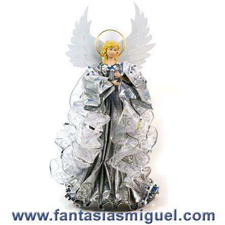 Como hacer angeles de tela para navidad buscar con - Como hacer adornos navidenos ...