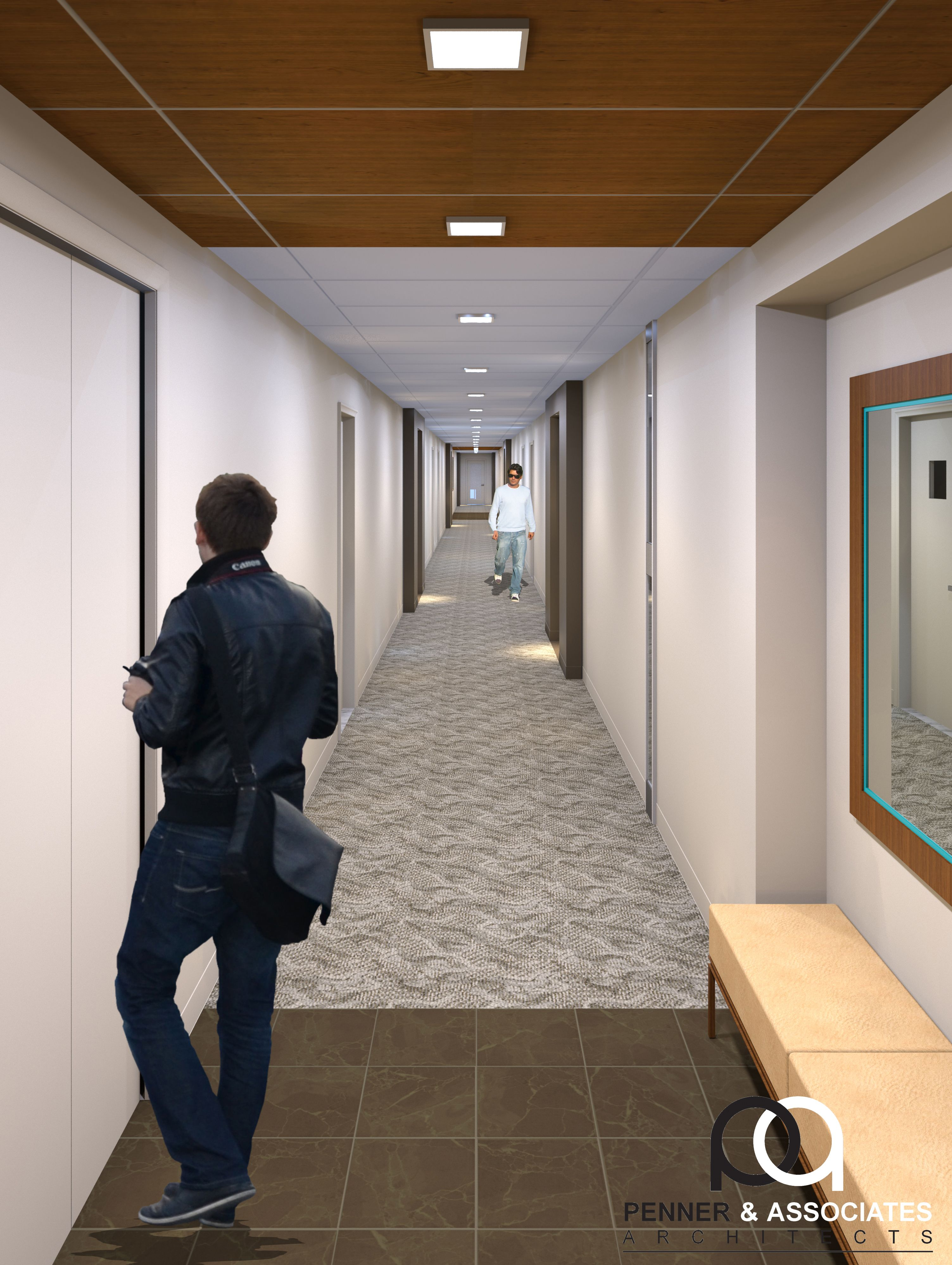 This Project Aimed To Renovate The Outdated Interior Hallways And Lobbies Of A High End Condominium In Pitts Apartment Building Hallway Designs Corridor Design