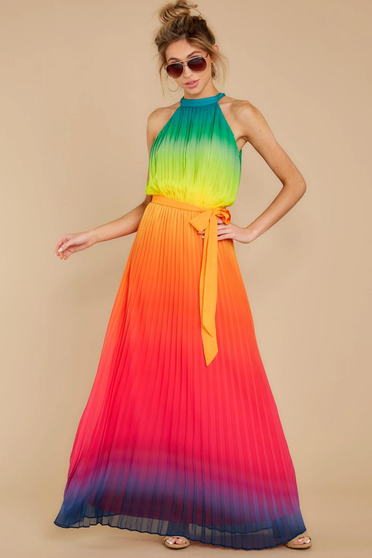 Walk Your Talk Rainbow Maxi Dress Rainbow Dress Maxi Dress Dresses [ 1500 x 1000 Pixel ]