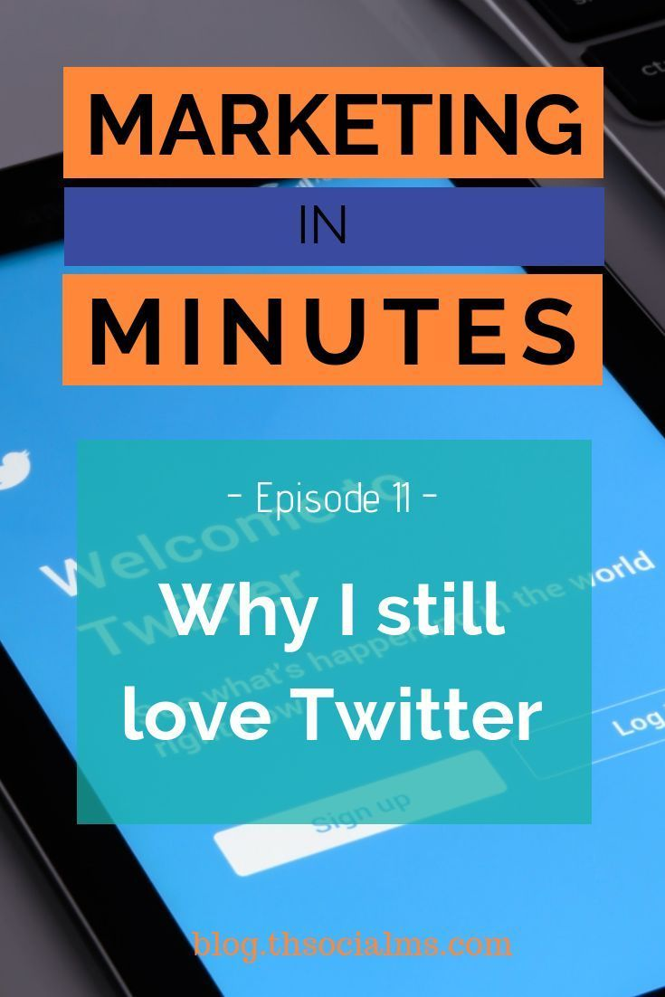 Why I still love Twitter  Podcast Episode is part of Twitter marketing strategy, Marketing strategy social media, Twitter strategy, Marketing topics, Social media, Twitter marketing - Twitter will always be relevant  In general, and for marketing  Here is why in the latest episode of the podcast Marketing in Minutes