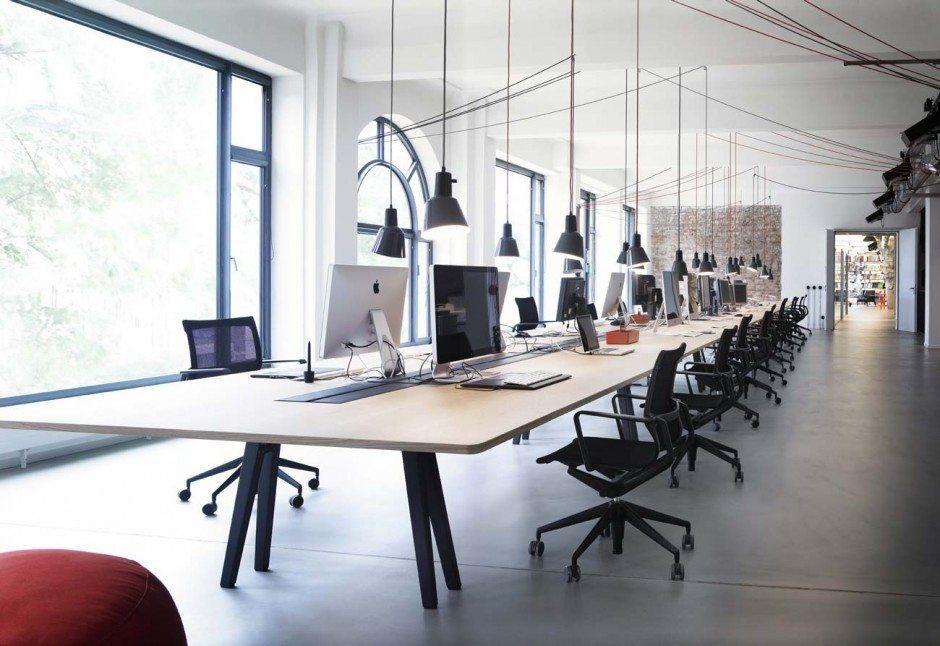 Blick ins Studio Geometry Global Bürosräim a plaatzen