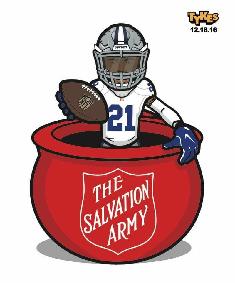 e006c12edd8 Thanks to Ezekiel Elliott's jump into the Kettle, the The Salvation Army  USA says they've seen a 61% uptick in donations over last Sunday.