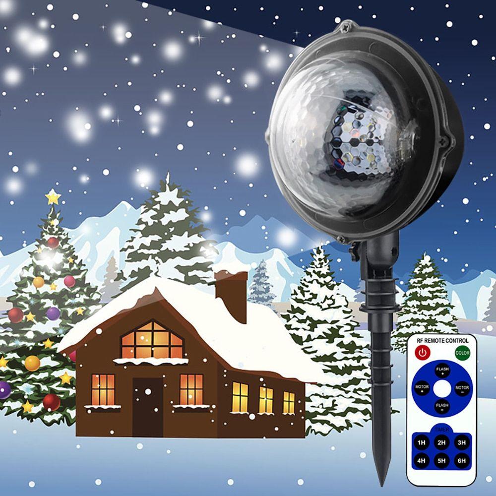 Led Christmas Lights Snowfall Projector Ip65 Flurries Falling Outdoor Garden Lamp Snow Spot For Led Christmas Projector Led Stage Lights Led Christmas Lights