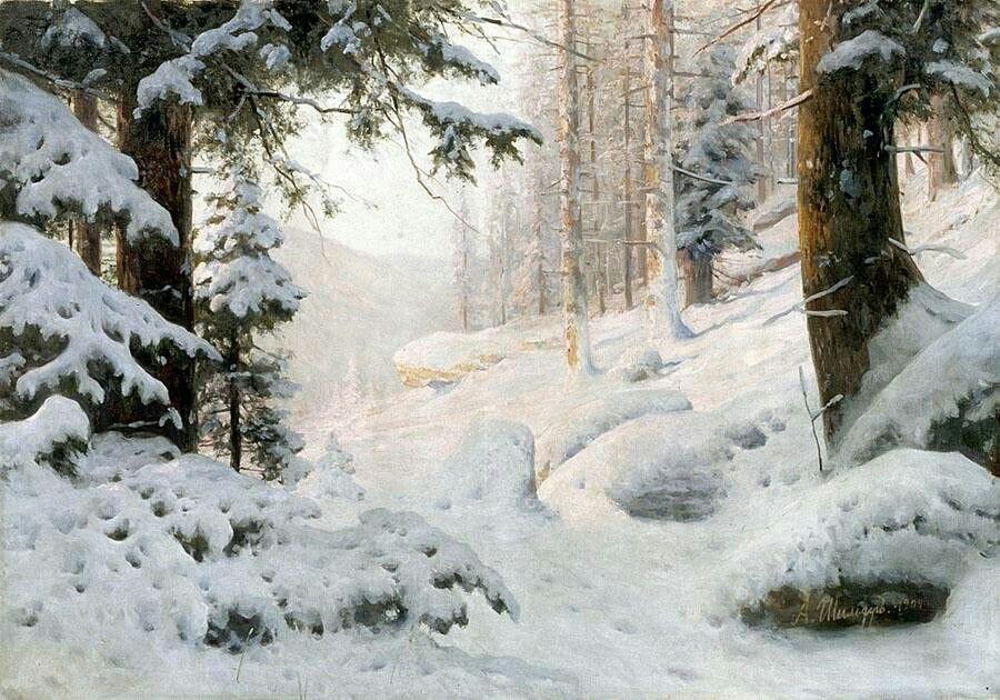 зимний пейзаж шишкин дорога фото пынзарь опубликовала неудачное