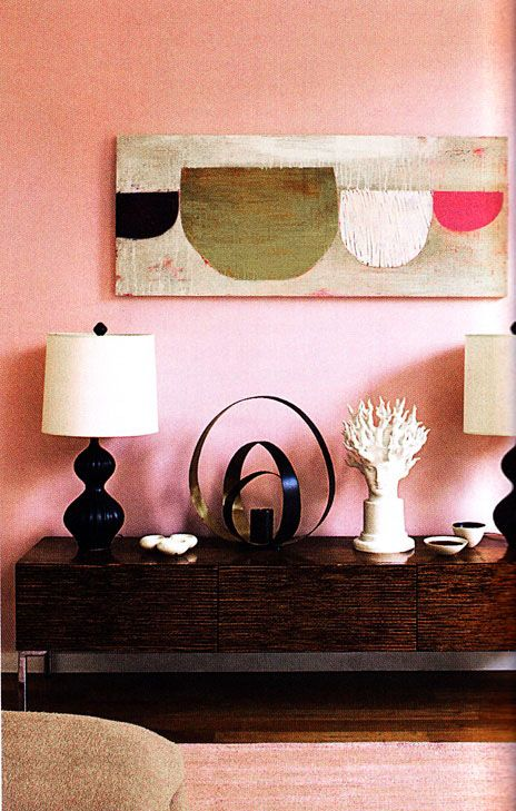 ♡ Home Pink Home ♡ pink walls and modern painting | ♡ Home Pink ...