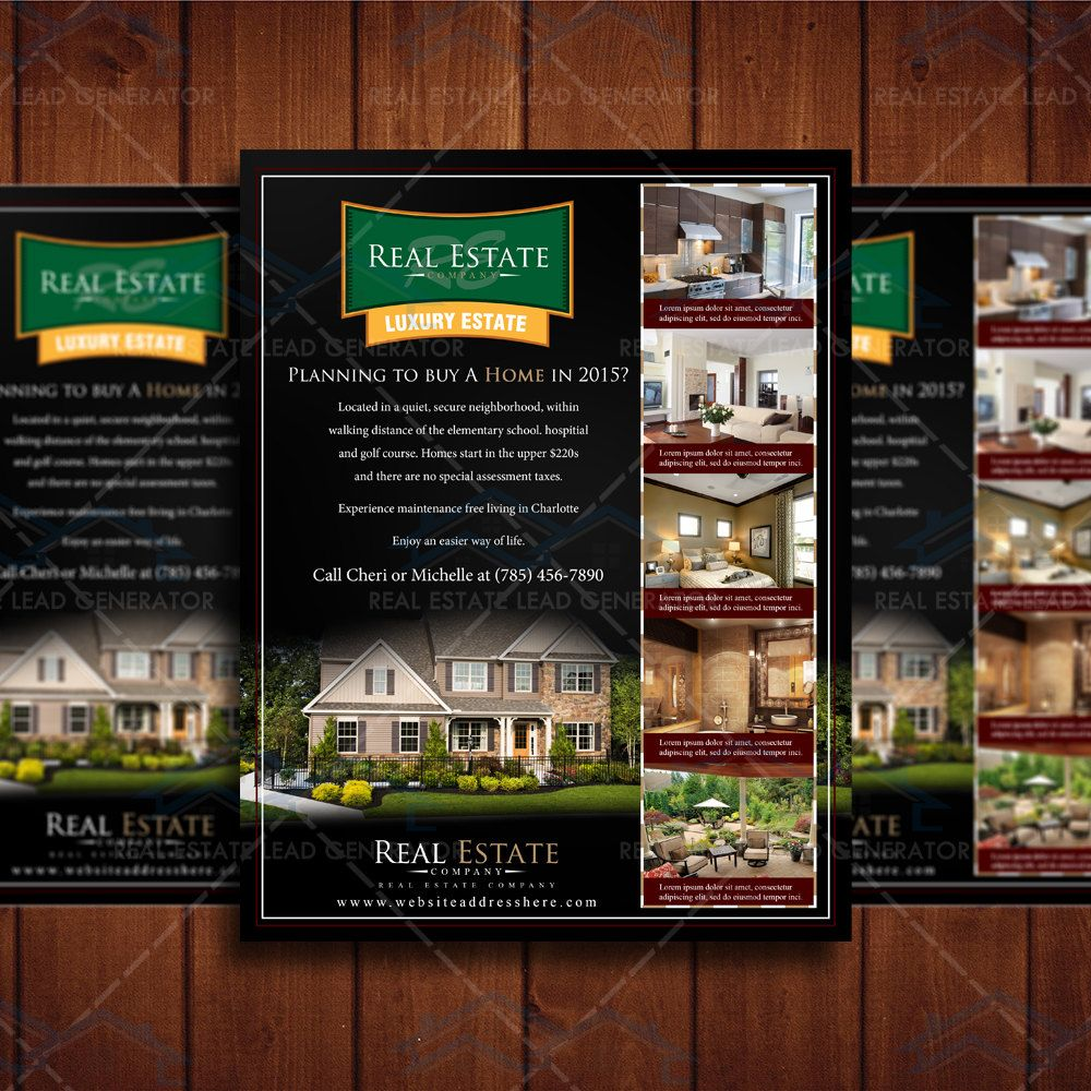 Real Estate Template%0A Real Estate Listing Flyer Template  Community Property Listing Design   Listing Magazine Template  Realtor