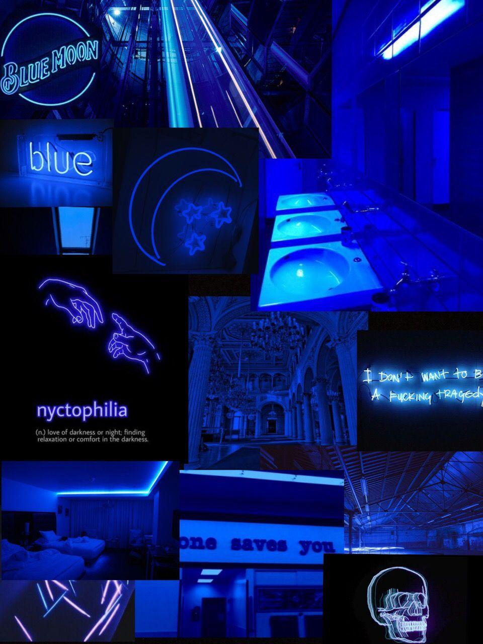 Dark Blue Neon Aesthetic Wallpaper Lock Screen In 2020 Pink Neon Wallpaper Neon Wallpaper Wallpaper Iphone Neon