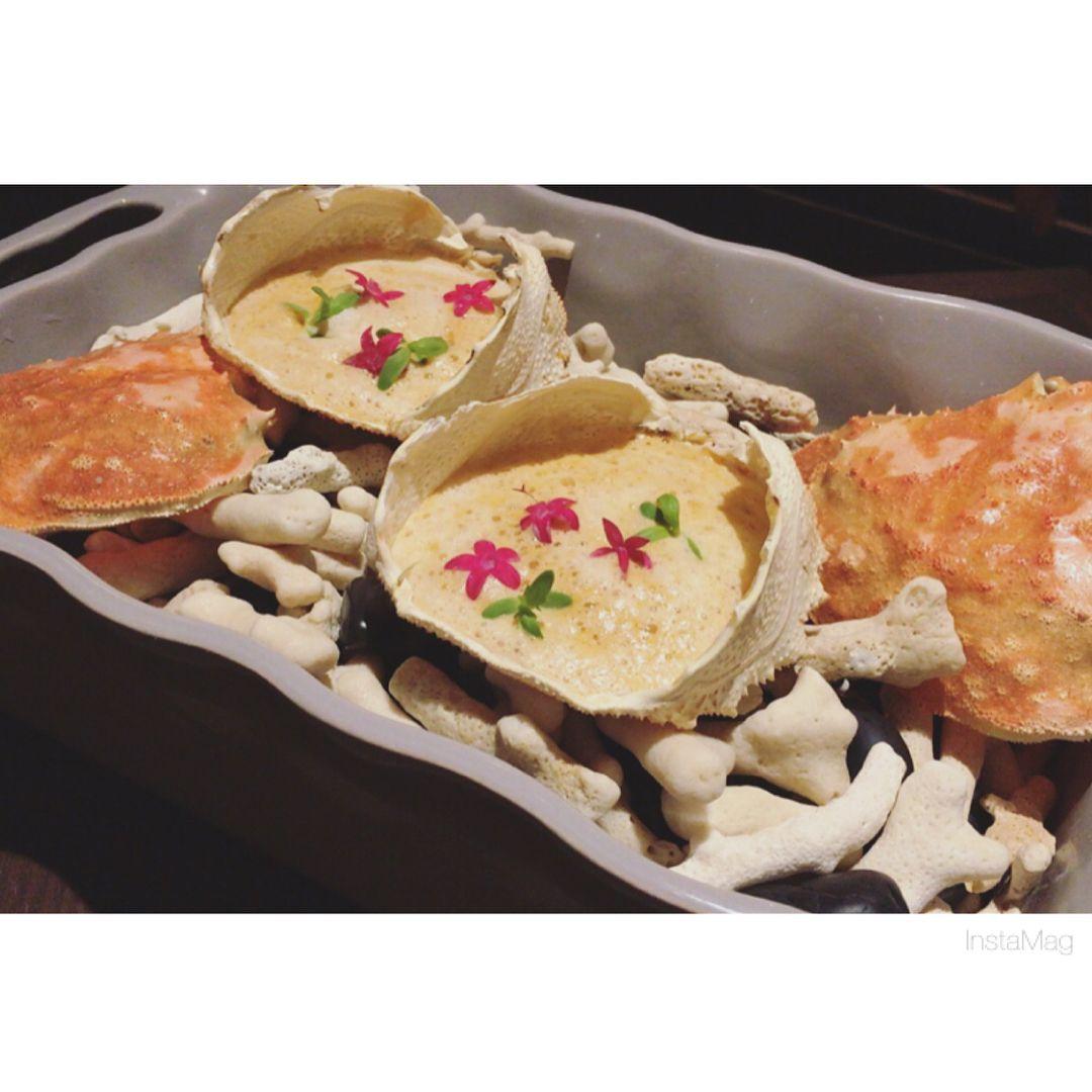 1つ1つの料理がとてもお洒落で食べるのが楽しかった  #フレンチ #北参道 #千駄ヶ谷 #crab #foiegars #pigeonmeat  #french #dinner #yum #sincere #kitasando #sendagaya