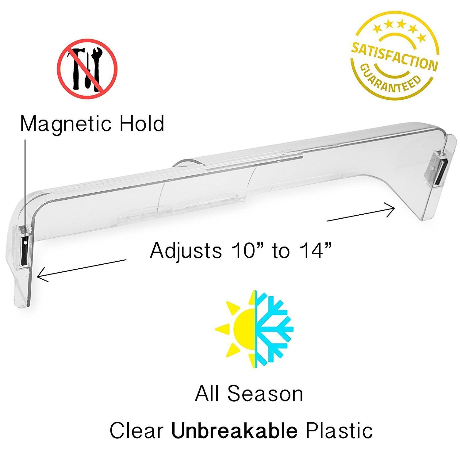 Adjustable Heat and Air Deflector for Vents