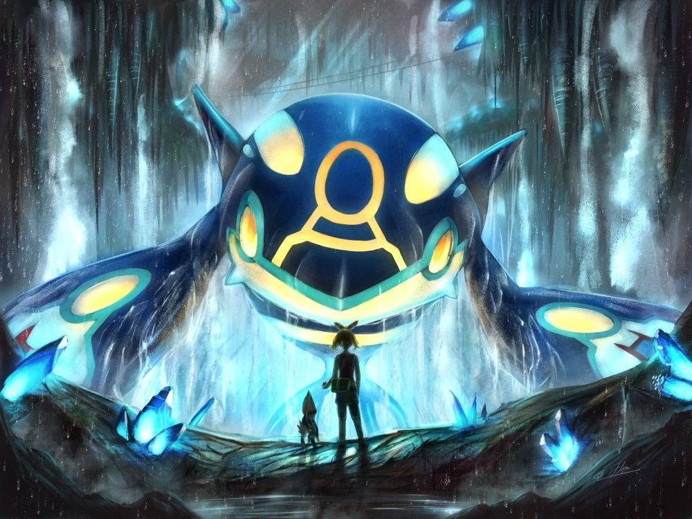 Primal Kyogre Pokemon Pokemon Rayquaza Pokemon Cute Pokemon Wallpaper
